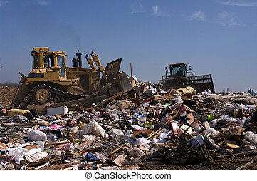 Landfill caterpillar - Working on a landfill plan in the US