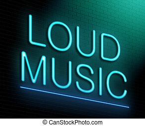 Loud music concept - Illustration depicting an illuminated...