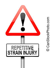 Repetitive strain injury concept. - Illustration depicting a...