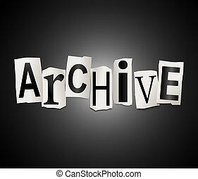 Archive concept.