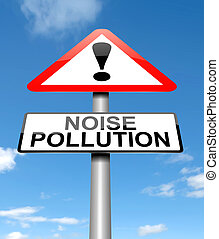 Noise pollution concept. - Illustration depicting a sign...