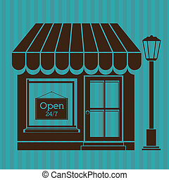 store design over blue background vector illustration