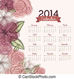 calendar design over white background vector illustration