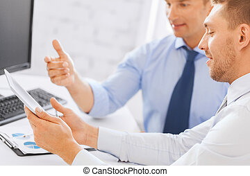 businessmen with notebook and tablet pc - businesss and...