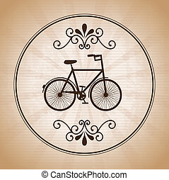 bicycle design over vintage background vector illustration