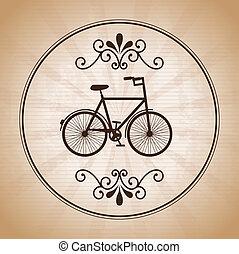 bicycle design over vintage background  vector illustration