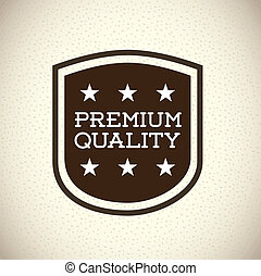 premium quality over pattern background vector illustration