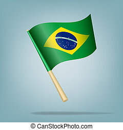 Brazil flag, vector illustration