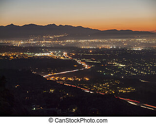 San Fernando Valley Day Break - Early morning view of the...