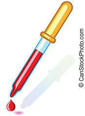 Pipette - Medical pipette on white background