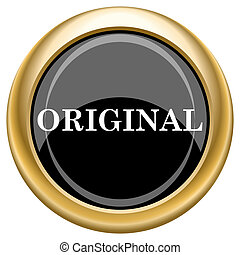 Original icon - Shiny glossy icon with white design on black...