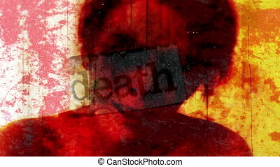 Death Horror Abstract Artistic mixed media stills, footage,...