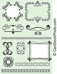 Vector design decorative elements