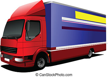 Vector illustration of delivery red