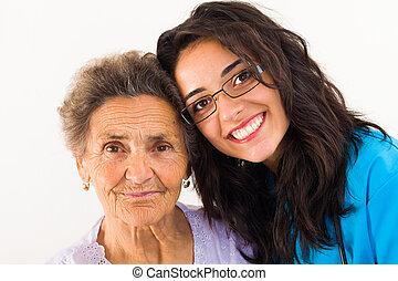 Caring Family Member - Loving family member doctor caring...