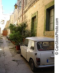 Parking permitted - I found this very small street with a...