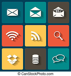 Online Flat icons for Web and Mobile Applications
