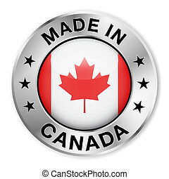 Made In Canada Silver Badge - Made in Canada silver badge...