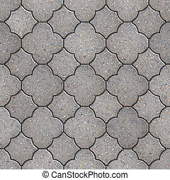 Figured Pavement. Seamless Tileable Texture. - Gray Figured...