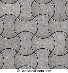Paving Slabs Seamless Tileable Texture - Gray Figured...