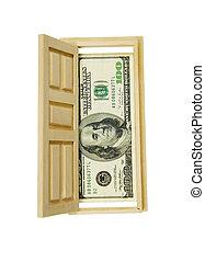 Opportunity knocks - Wooden interior door with five panels...