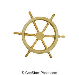 Nautical Steering Wheel - Wooden nautical steering wheel...