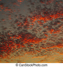 Beautiful skys at sundown with different patterns, samples