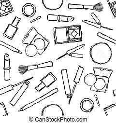 seamless cosmetics pattern