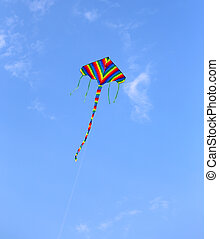 kite at the blue sky