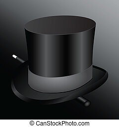Cylinder hat magician