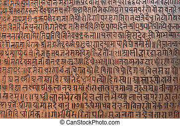 Ancient sanskrit text - Background with ancient sanskrit...