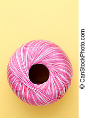 rosa, cucito, filo