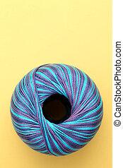 blu, cucito, filo