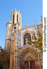 Cathedral of Saint Savior (1513). Aix-en-Provence, France -...