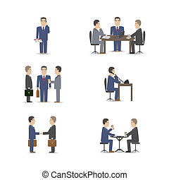 business negotiations - Business negotiations scenes set...