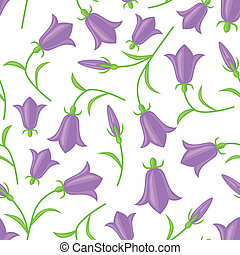 Bluebell seamless pattern - Seamless pattern with flowers...