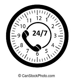 Customer service 24/7 application icon