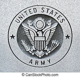 Army - The seal of the United States Army engraved into...