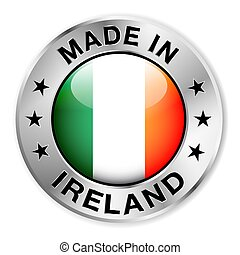 Made In Ireland Silver Badge - Made in Ireland silver badge...