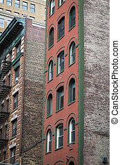 Old apartment buildings, New York City