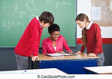 profesor, enseñanza, matemáticas, a,...