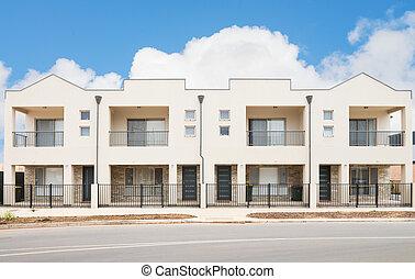 Modern Suburban House - typical facade of a modern town...