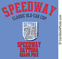 speedway grand prix vector art