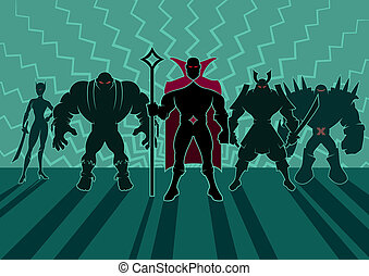 Supervillain Team - Team of superheroes No transparency and...