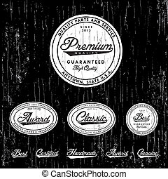 Vector Clipart Distressed Classic Badge and Label Set - Easy...