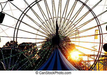 Ferris Wheel - Large ferris wheel or big wheel at a fair or...