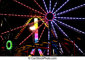 Carnival Midway - Midway at a State Fair carnival amusement...