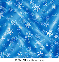 Blue background with snowflakes and drapery - Christmas blue...
