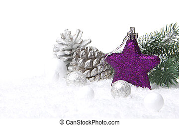christmas decoration purple - christmas, decoration with fir...