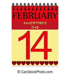 February 14 on the calendar